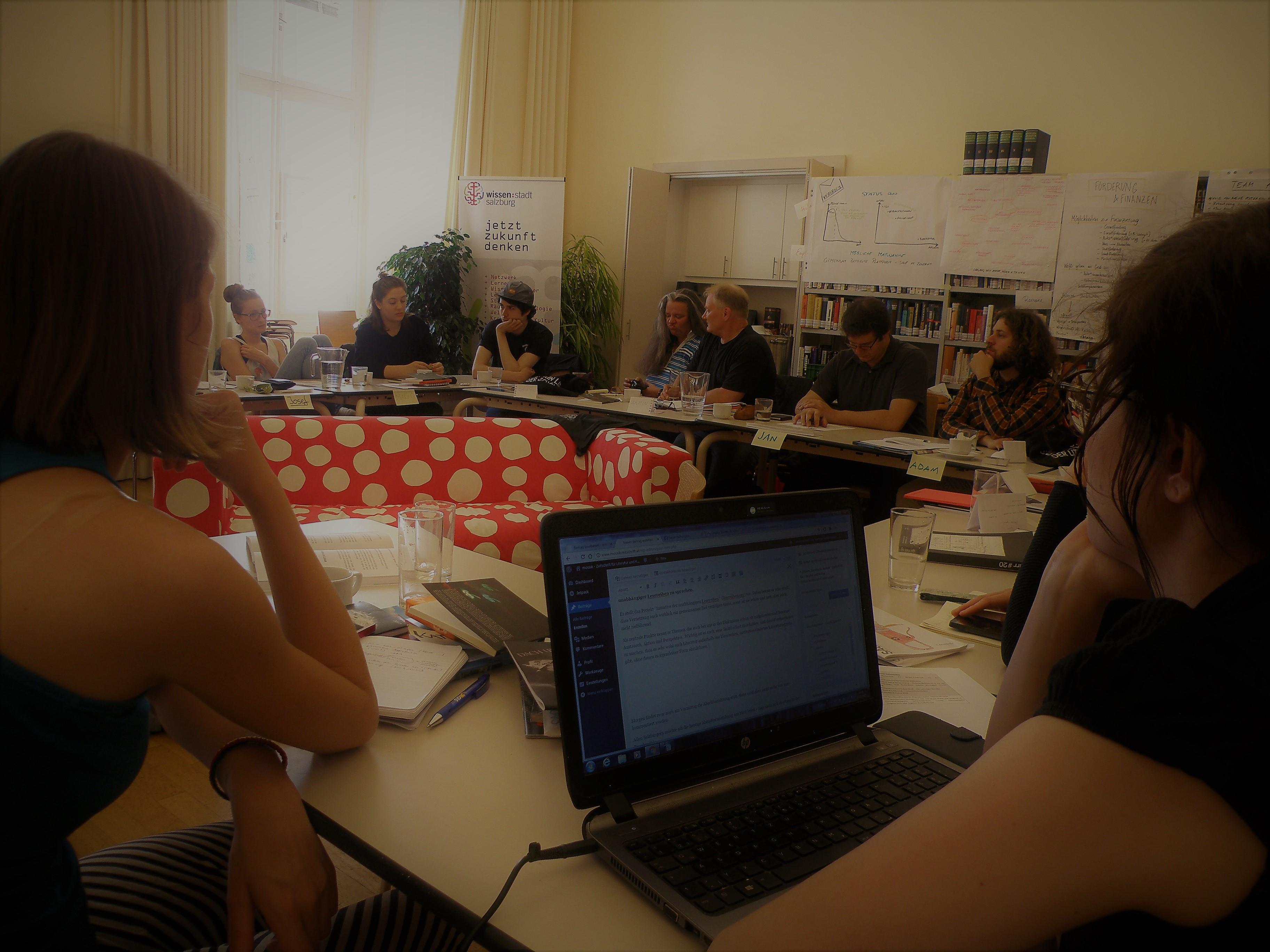 klein&laut, das erste Treffen junger Literaturzeitschriften im Mai 2017 in Salzburg